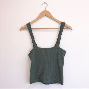 Free people green cami top - NWT